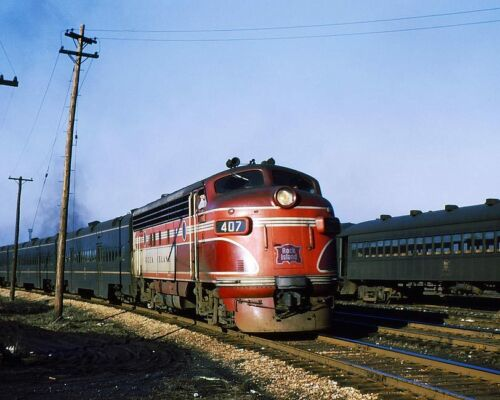 ROCK ISLAND LINE #407 TRAIN 11x14 SILVER HALIDE PHOTO PRINT