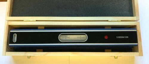 "NEW in wooden box 12/"" Master Precision Level .0005/"""