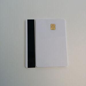 LOT-of-10-Blank-Smart-Card-Sle4442-Chip-Magnetic-Strip-Hico-3-track-Inkjet-PVC