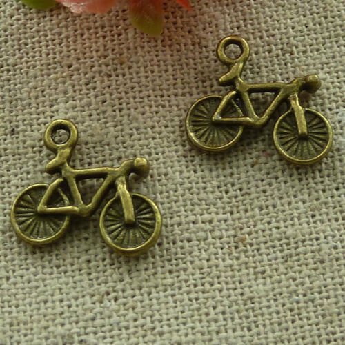 free ship 200 pieces Antique bronze bike charms 16x14mm #2558