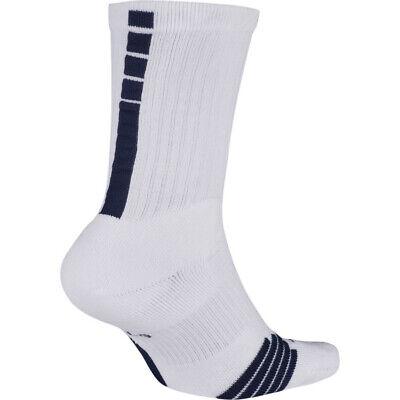 Nike Elite Basketball Socks SX7626-101 LARGE (men sizes 8-12) WHITE, NAVY |  eBay