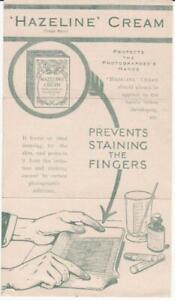 Hazeline-Cream-for-Photographers-Hands-1920-vintage-handbill-ephemera-Brochure