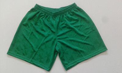 Footex 10 Pantaloncino Calcio Calcetto Misura L Colore Verde Poliestere Jaquard
