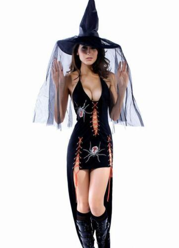 STOCK CLEARANCE Gothic Vampire Angel Underworld Spider Bride Halloween Costume