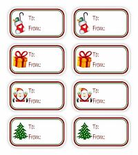 christmas present 8x vinyl stickers to from gifts tags mother holiday labels - Snoopy Christmas Gifts
