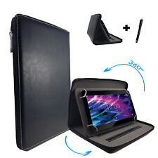 360° drehbare 10.1 zoll Tablet Tasche Samsung Galaxy Tab 2 P5100 Zipper Schwarz