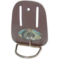 Hammer Holder Swivel Heavy Duty Leather Steel Loop Storage Wallet Chrome Plated