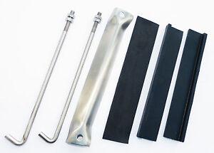 . MGB PEDALE Box Kit di Fissaggio Acciaio Inox
