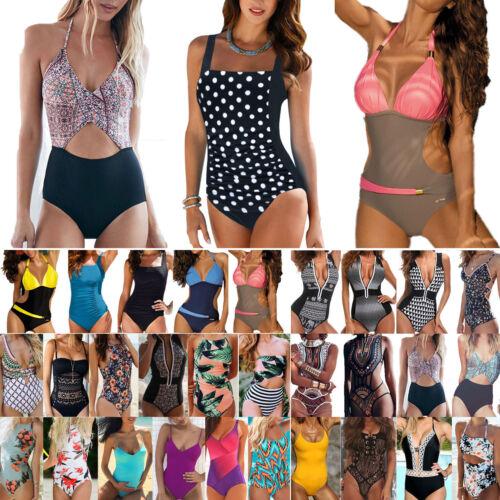 Swimming Costumes Womens Monokini One Piece Swimsuit Swimwear Push Up Bikini New