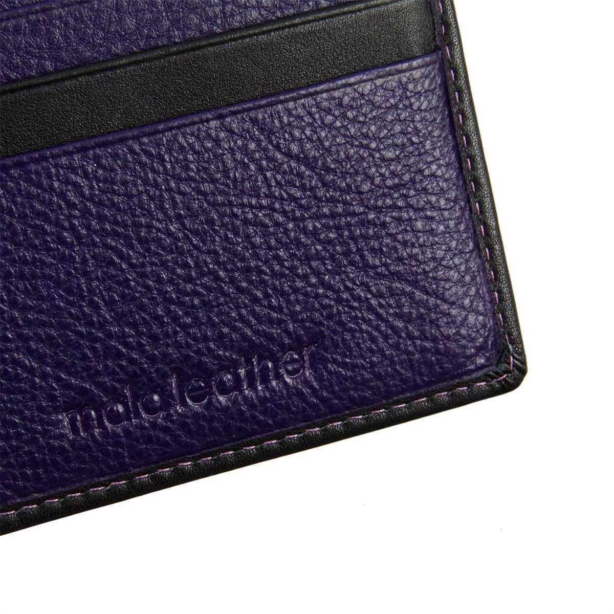 Fine Leather Two Tone Colour Interior 3 Colour Choices Slim Leather Wallet