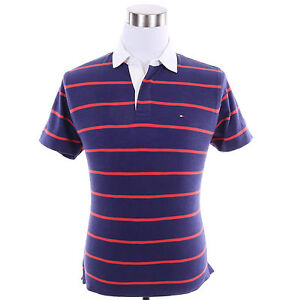 Tommy-Hilfiger-Men-Short-Sleeve-Stripe-Classic-Fit-Rugby-Polo-Shirt-Free-Ship