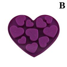 DIY Heart Silicone Mould Fondant Kitchen Cake Molds for Chocolate Baking Tools