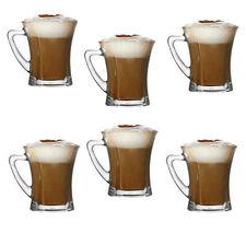 Brand NEW Set di 6 bicchieri da tè caffè cappuccino VETRO TAZZE HOT bere TAZZE Regalo