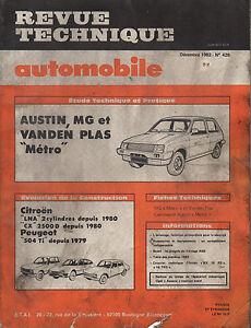 Rta Revue Technique Automobile N° 499 Austin Mg Vanden Plas Metro