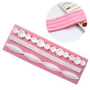 Lace-Silicone-Mold-Mould-Sugar-Craft-Fondant-Mat-Decorating-Baking-Tool-Pink