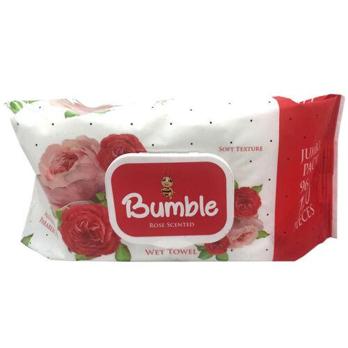 BUMBLE REFRESHING WET TOWEL FRAGRANCE FREE ROSE 120 WIPES CLEANSING JUMBO PACK