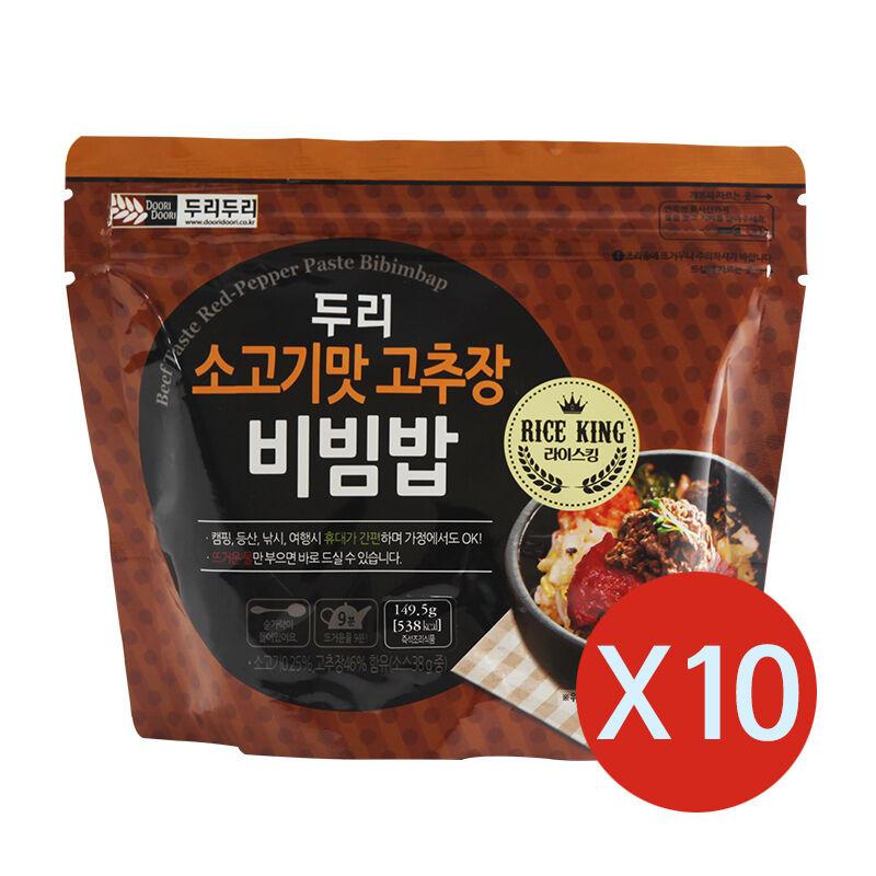 Easy cook Korean food Instant beef taste bibimbap MRE Just pour hot water  10EA