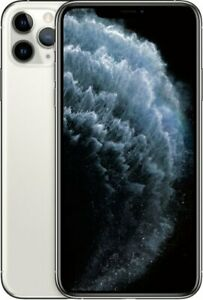 Apple iPhone 11 Pro Max 256GB Silver LTE Cellular AT&T MWFF2LL/A