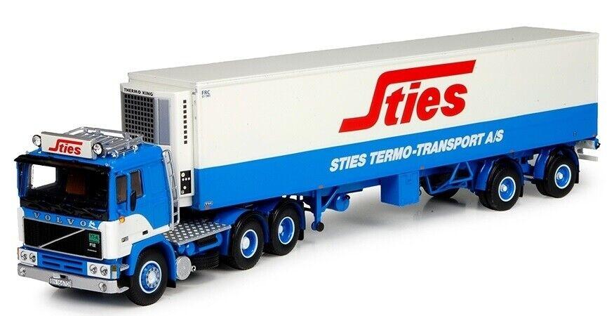 - TEK70104 - Camion avec remorque frigorifique Volvo F12 aux colors STIES -