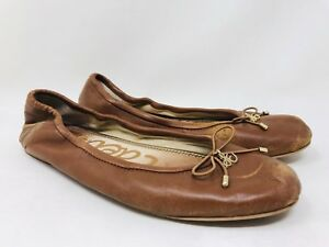 0c0388fb581591 Sam Edelman Women s Felicia Ballet Flats Size 8 Saddle Leather MSRP ...