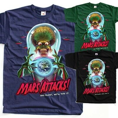 1996 T Shirt All Sizes M-3XL Mars Attacks V8 Movie Poster