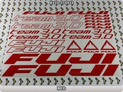 FUJI TEAM 3.0 Stickers Decals Bicyclettes Vélos Cycles Frames Forks Mountain 61FE
