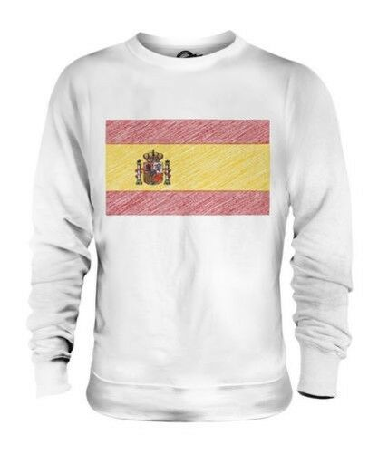 Spanien Scribble Flag Unisex Pullover Top Geschenk Espaða Espanya
