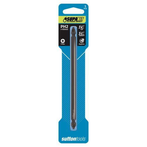 Sutton Tools Double Ended SUPABIT PH2 150mm Phillips Impact Power Bit S1082150