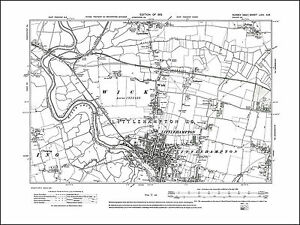 Littlehampton Climping Rustington W old map Sussex 1913 63SW