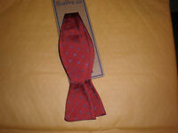 Wembley Men's Bow Tie Red With Blue White Design