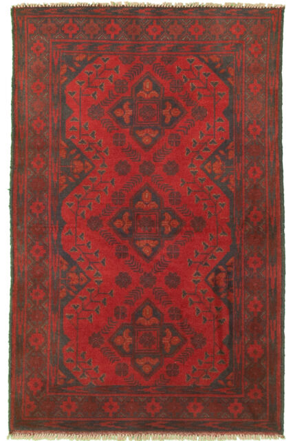 """Hand-knotted Carpet 2'5"""" x 4'0"""" Traditional Vintage Wool Rug...DISCOUNTED!"""