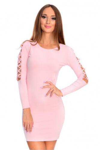 Damen Etuikleid Kurzkleid Freizeit Party Elegant Mini Kleid Abendkleid 0333