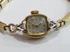Vintage Bulova Ladies Watch Model 5AD 23j Wristwatch Diamond Case - 3609