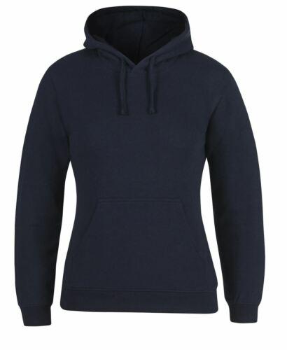 Jb/'s wear Ladies Fleecy Hoodie Jump With Kangaroo Pocket Cotton rich CVC Fleece