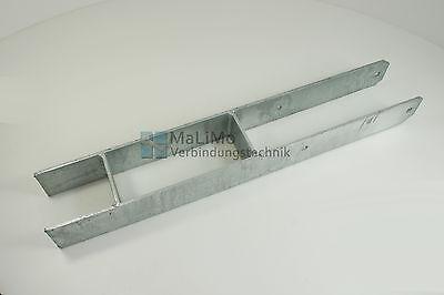 MaLiMo H-Anker Pfostenschuhe Carport Pfostenanker 600 u. 800 mm lang SET-AUSWAHL