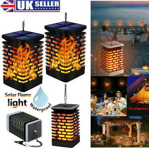 99 LED Solar Torch Lights Dancing Flame Lighting Flickering Garden Lanterns Lamp