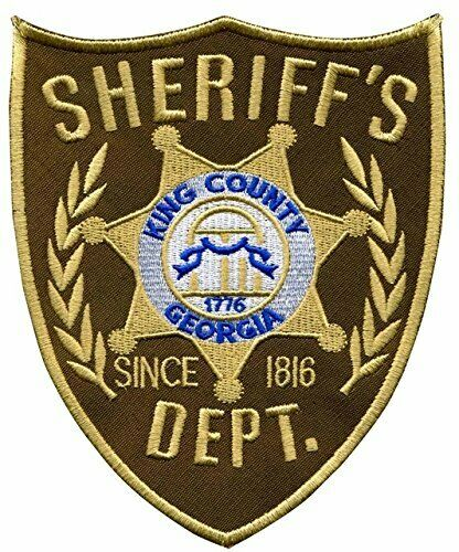 KINGS COUNTY SHERIFF IRON ON PATCH WALKING DEAD AMERICANA RRP £8.50
