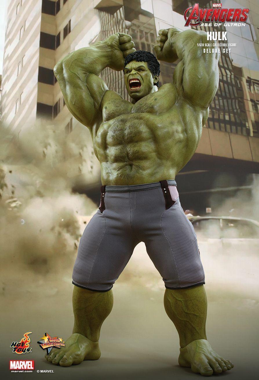 Hot Toys 1 6 Marvel Avengers MMS287 Hulk Deluxe Set 42 cm Tall acrion FIGURE NEW