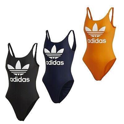 adidas Badeanzug Frauen Damen Originals Kollektion Trefoil U Ausschnitt Gr 36 48   eBay