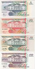 Suriname 5 10 25 100 Gulden 1996 1998 UNC Uncirculated Banknote Set - 4 pcs