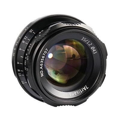 7artisans 35mm F1.2 Manual Focus Lens for Panasonic Olympus m43 MFT mount Camera