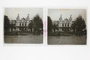 Casinò Monaco Monte-Carlo Placca Lente Stereo Vintage Positivo 6x13cm