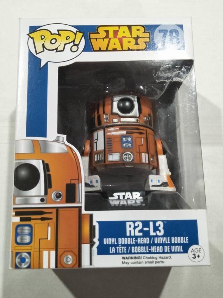 Funko pop vinyl figure  78 R2-L3 Star Wars astromech droid BNIB r2l3 exclusive