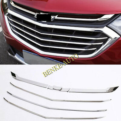 Auto Reflections Chrome Mesh Grille Overlay for 2018-2019 Chevy Equinox