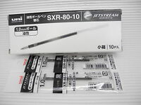 10pcs UNI-BALL SXR-80 1.0mm ball point pen only refill for Jetstream pen Black