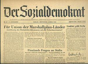 MotivéE La Social-démocrate Du 3.3.1948: Union Pour La Plan Marshall-pays-änder Fr-fr Afficher Le Titre D'origine