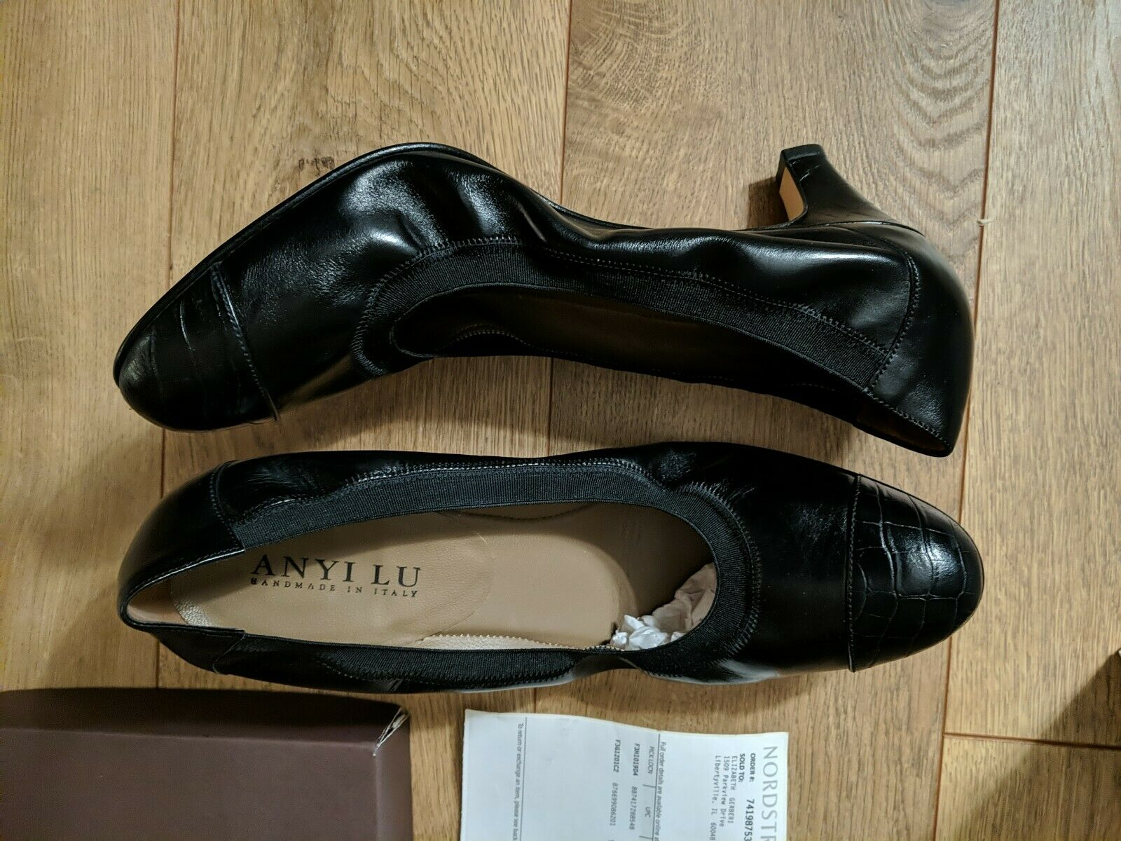 Anyi Lu Heels Size 42.5 Black Payge ITALY NEW IN BOX ALL LEATHER US 11.5 to 12