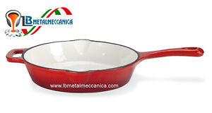 Piastra-Padella-Pentola-liscia-Ghisa-Smaltata-Diam-26-Cm-LB-PAN26