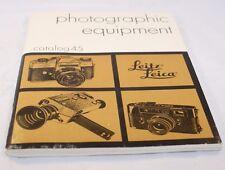 Leica Leitz Photographic Equipement Catalog No.45 (EN) 6103057 vintage