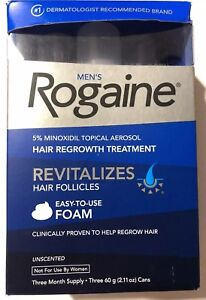 ROGAINE-MEN-039-S-FOAM-3-MONTH-SUPPLY-5-minoxidil-topical-3-cans-NEW-Exp-6-2019